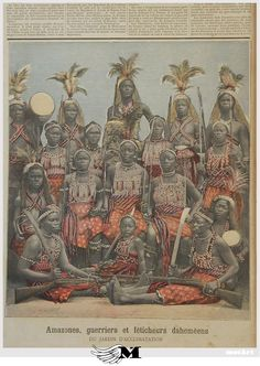 The Dahomey Amazons or Mino were a Fon all-female military regiment of the Kingdom of Dahomey (now Benin) which lasted until the end of the 19th century. They were so named by Western observers and historians due to their similarity to the semi-mythical Amazons of ancient Anatolia and the Black Sea. For many years, the Black Sea was called the Amazon.