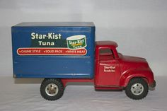 Vintage Tonka Toys Star-Kist Tuna Delivery Box Truck EX L@@K #Tonka   my brothers, I played with,  Mom still has it, not as pretty as this. Had to have something to carry all my tiny horses in. Fond of  this one.