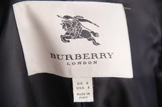 BURBERRY Blue Classic Check Plaid Wool DOUBLE BREASTED COAT Sz 6 UK 9