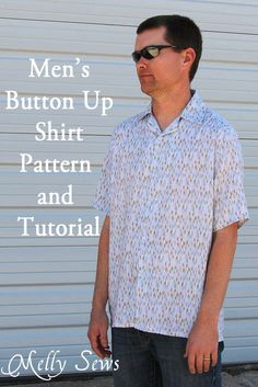 Blank Slate Patterns Free Mens Shirt Pattern and Tutorial on Melly Sews