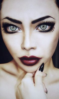 Halloween Doll Makeup Styles, Looks, Trends & . Halloween Doll Makeup Styles, Looks, Trends & Ideas 2015 Goth Makeup, Makeup Art, Beauty Makeup, Makeup Ideas, Makeup Geek, Evil Makeup, Gothic Eye Makeup, Lolita Makeup, Crazy Makeup