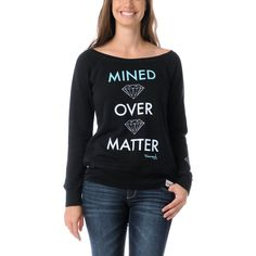 Diamond Supply Girls Mined Over Matter Black Crew Neck Sweatshirt at Zumiez