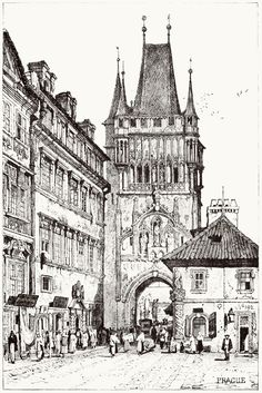 oldbookillustrations:  Prague.  Samuel Prout, from Sketches by Samuel Prout, by Charles Holme, London, 1915.  (Source: archive.org)
