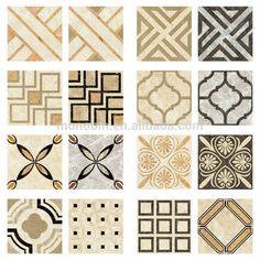 Italian waterjet beige stone polished marble pattern floor design