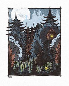 The Escape - Screenprinted Art Print
