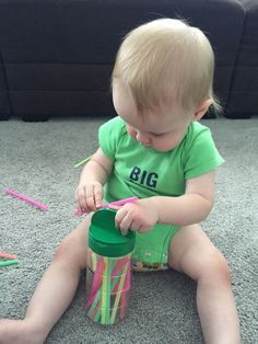 Tot School 11 Month old learning activity