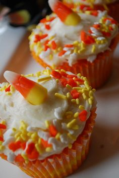 Candy Corn Cupcakes - your homebased mom