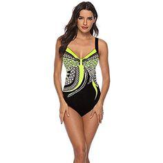aeb1ee8caeb2 Sweetneed Costume Intero da Donna Costume da Bagno Sexy Moda Senza Maniche  Halter Slim Doppio Girocollo