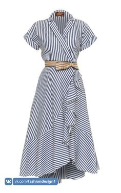 This **Lena Hoschek** Carolina Wrap Dress features short sleeves with a v-neckline and shirt dress silhouette. Source by lmchellsen Dresses Simple Dresses, Casual Dresses, Casual Outfits, Fashion Dresses, Summer Dresses, Wrap Dresses, Dress Silhouette, Indian Designer Wear, Mode Inspiration