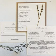 Cara Couture Invitations offers personalized hand crafted invitations for weddings and events. Couture Wedding Invitations, Small Flowers, Marriage, Van, Simple, Crafts, Mariage, Manualidades, Little Flowers