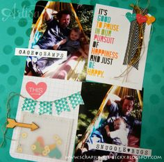 Stampin' Up! Project Life, gold sequin trim, everyday adventure accessory pack; AWW-A Traditional Take. . .