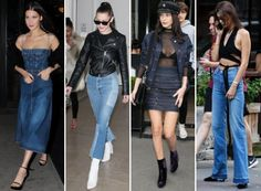 Bella's Jean Style    bella hadid jean style    Let's Talk Hadid in jeans in the NYC. The beautiful model is seen countless times out in NYC strutting around time in denim and reminding us why we love our jeans in the first place.