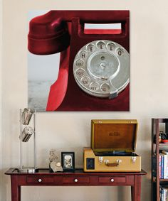 Look what I found on #zulily! Red Symposium Design 'Hello' Phone Canvas by iCanvasART #zulilyfinds