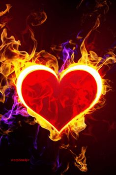 #Heart of Fire for #GOD & #JESUS - SON OF GOD AND LORD AND KING AND LORD OF LORDS AND KINGS OF KINGS ♡ ♡ ♡