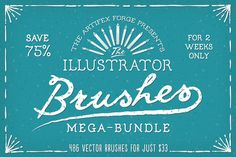 The Illustrator Brushes Mega-Bundle! by The Artifex Forge on Creative Market