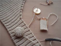 knit, crocheted, cord buttons, frogs, festoon edge, etc. - good collection of techniques