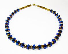 Royal Blue Necklace by kiddercreations on Etsy, $49.00