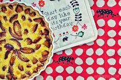 luzia pimpinella blog | rezept pflaumentarte mit schmandguss | recipe plum tarte with sour cream
