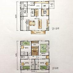 『32坪の間取り』 ・ 子供部屋3室の4LDKの間取り。 ・ 半分土間で半分床の収納庫を設けました。 洗面脱衣室の前に階段下収納を設けました。 グルグル回れる回遊動線です。 ・ #間取り#間取り集 #間取り図 #間取り萌え #間取りマニア #間取りフェチ #間取り図好き #間取り図大好き #間取り図が好き #間取り考え中 #間取り相談 #設計相談#マイホーム計画#マイホーム計画開始 #マイホーム計画三重 #三重の家 #三重の住宅 #三重の建築家 #三重の間取り #三重の設計事務所 #32坪の間取り#4LDKの間取り#土間収納のある間取り