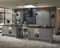 Create a beautifully sophisticated kitchen that has hints of heritage design with this Shaker-style cabinet door in rich slate grey.