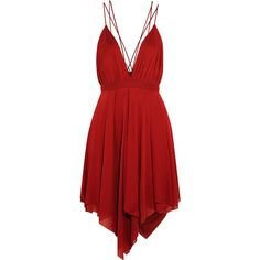 Spring Cleaning 2015: Sleeveless Dresses pt. 2 by schrantzie on Polyvore featuring polyvore, fashion, clothing, dresses, balmain, red, vestidos, short dress, short red cocktail dress and draped dress