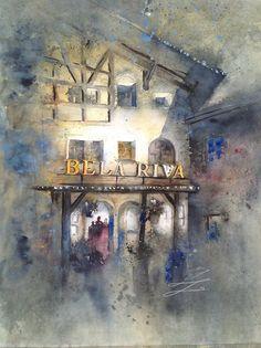 Watercolor Trip - Bela Riva #fan #art #watercolor #roadtrip #BelaRiva #lovely