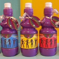 Brightly coloured bottle wraps. Digital PDF