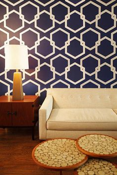 Honeycomb Tempaper Wallpaper - Wallpaper - Wall Decor - Home Decor | HomeDecorators.com