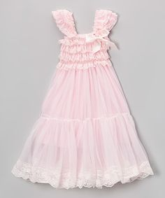 Another great find on #zulily! Pink Lace Babydoll Dress - Infant, Toddler & Girls by Royal Gem #zulilyfinds  I can't wait to see our grandbaby in this