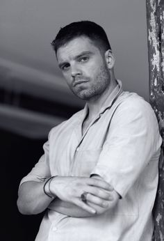Sebastian ✪ Stan for L'Official Hommes Thailand Stucky, Bucky Barnes, Bucky And Natasha, Man Thing Marvel, Le Male, Dc Movies, Marvel Actors, Raining Men, Winter Soldier