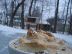 Bread Pudding Soufflés with Bourbon Custard SaucePosted on January 22, 2012  by  Madeleine C.Bread Pudding Soufflés with Bourbon Custard Sauce