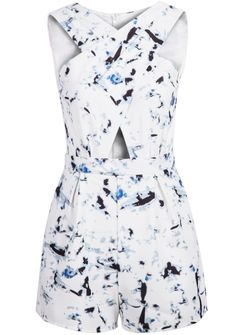 Shop White Sleeveless Cross Hollow Floral Jumpsuit online. Sheinside offers White Sleeveless Cross Hollow Floral Jumpsuit & more to fit your fashionable needs. Free Shipping Worldwide!
