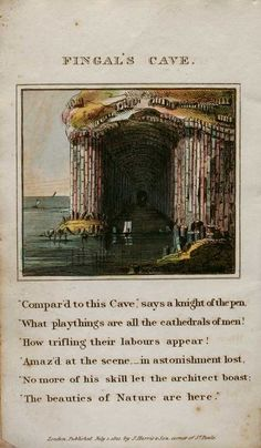 Fine and Rare Antiquarian Books Fingal's Cave, Caves, Knight, Cathedral, Scene, Music, Nature, Recipes, Painting