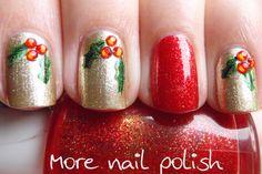 Pinned by www.SimpleNailArtTips.com - NAIL ART DESIGN IDEAS Christmas nail art