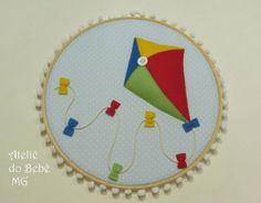 Ateliê do Bebê MG: Trio de Quadros Bastidor Brinquedos( Rafael )