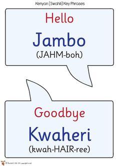 Teacher's Pet - Swahili Speech Bubbles - FREE Classroom Display Resource - EYFS, KS1, KS2, African, africa, kenya, safari, languages.