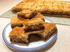 Igazán finom, omlós sütemény, benne mennyei pudingos meggyes töltelékkel és finom fahéjas almával. Abbahagyhatatlan... A tésztája az oldalon már megtalálhatóalmáspite tésztája, de a töltelék készítése miat ... Spanakopita, Apple Pie, Ethnic Recipes, Desserts, Food, Tailgate Desserts, Deserts, Essen, Postres