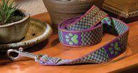 Tablet woven leashes with instructions for creating your own designs. #tablet_weaving