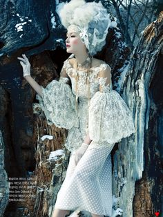 """Vogue Korea – """"White on White"""" 