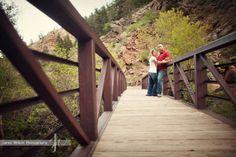 engagement portraits on bridge | Colorado Engagement Photos Bridge