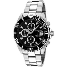 Invicta Men's 1003 'Pro Diver' Stainless Steel Black Dial Watch | Overstock.com Shopping - Big Discounts on Invicta Men's Invicta Watches