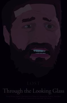 Lost minimalist poster - Through the Looking Glass Lost Poster, Poster On, Poster Series, Tv Series, Lost Episodes, Lost Tv Show, Wizards Of Waverly Place, Fans, In Another Life