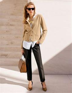 Tricot blazer, Pumps, Halsketting, Tas, Blouse, Pantalon