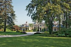 A neo-Colonial mansion in Long Island, New York.