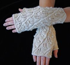 Looking for knitting project inspiration? Check out Fern Spiral Fingerless Gloves by member lizzydoone.