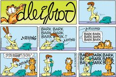 Read today's Garfield comic strip, or search for your favorite! Garfield And Odie, Garfield Comics, Hagar The Horrible, Jim Davis, Lazy Cat, Classic Comics, Have A Laugh, Funny Comics, Comic Strips