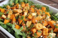Pumpkin and Haloumi Salad with a Honey-Jalapeno Dressing (via Veggie Mama)