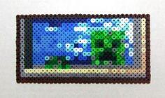 minecraft perler bead patterns | Minecraft: Creeper Painting Perler Wall ... | Minecraft - Perler Bead ...