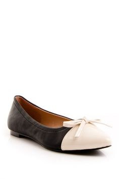 Colorblock Bow Flat