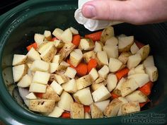 Pork tenderloin is great for roasting or grilling but sometimes you want to be able to turn it on and just walk away & it& done. Time to grab the crock pot. Pork Recipes, Slow Cooker Recipes, Crockpot Recipes, Cooking Recipes, Crockpot Meat, Cabbage Rolls Recipe, Carrots And Potatoes, Crock Pot, Stuffed Peppers